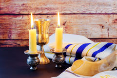 Jewish holiday Sabbath Prayer Shawl Tallit jewish religious symbol Stock Image