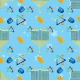 Jewish holiday seamless pattern hanukkah . Royalty Free Stock Image