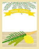 Jewish holiday of Sukkot, four species Stock Photo