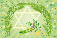 Jewish holiday of Sukkot Holiday. It is accepted to give all four types of plants each of which symbolizes the certain type of people. Lulav and Etrog Royalty Free Stock Photo