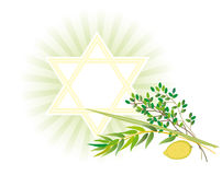 Jewish holiday of Sukkot Holiday vector illustration