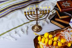 Hanukkah, the Jewish Festival of Lights. Jewish holiday, Holiday symbol Hanukkah, the Jewish Festival of Lights Stock Image
