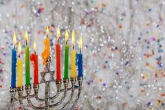 Hanukkah, the Jewish Festival of Lights. Jewish holiday, Holiday symbol Hanukkah, the Jewish Festival of Lights Stock Photo