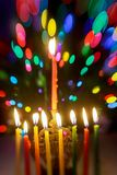 Jewish holiday symbol Hanukkah, the Jewish Festival of Lights. Jewish holiday symbol Hanukkah festival of Lights, menorah, religion, judaism, celebration, candle stock image