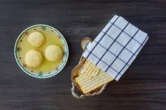 Jewish Holiday symbol soup matzoh ball Royalty Free Stock Images