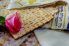 Jewish holidays Matza bread for passover celebration Royalty Free Stock Photos