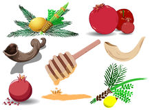 Jewish Holidays Symbols Pack Stock Image