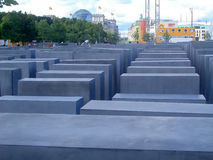 Jewish Holocaust Memorial in Berlin Royalty Free Stock Photos