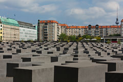 Jewish Holocaust Memorial, berlin germany Royalty Free Stock Image