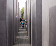 Jewish Holocaust Memorial in Berlin Royalty Free Stock Images