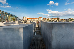 The Jewish Holocaust Memorial in Central Berlin Royalty Free Stock Image