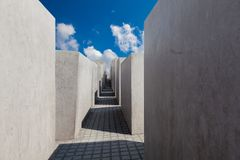 Jewish Holocaust Memorial museum, Berlin Royalty Free Stock Photo