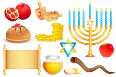 Jewish holy Object. Vector illustration of collection of Jewish holy object Royalty Free Stock Photos