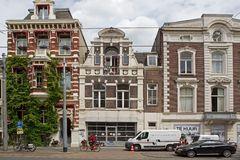 Jewish homes on the Plantage Middenlaan 17-21 Royalty Free Stock Image