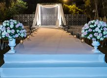 Jewish Hupa , wedding putdoor . Beautiful photo of the Jewish Hupa , wedding putdoor Stock Photo
