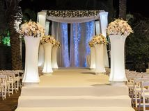 Jewish Hupa , wedding putdoor . Beautiful photo of the Jewish Hupa , wedding putdoor Stock Photos