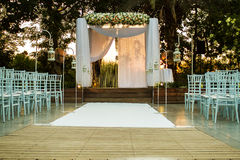 Jewish Hupa , wedding putdoor . Royalty Free Stock Images