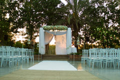 Jewish Hupa , wedding putdoor . Stock Photos