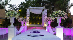 Jewish Hupa , wedding putdoor . Royalty Free Stock Photos