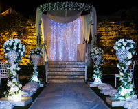 Jewish Hupa , wedding putdoor . Stock Image
