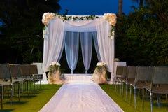 Jewish Hupa , wedding putdoor . Royalty Free Stock Images