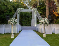 Jewish Hupa , wedding putdoor . Royalty Free Stock Photo