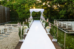Jewish Hupa , wedding putdoor . Beautiful photo of the Jewish Hupa , wedding putdoor Royalty Free Stock Image