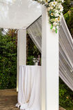 Jewish Hupa , wedding putdoor . Stock Photos
