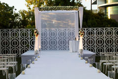 Jewish Hupa , wedding putdoor . Stock Images