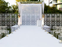Jewish Hupa , wedding putdoor . Beautiful photo of the Jewish Hupa , wedding putdoor Royalty Free Stock Photography