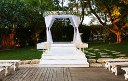 Jewish Hupa , wedding putdoor . Beautiful photo of the Jewish Hupa , wedding putdoor Stock Photography