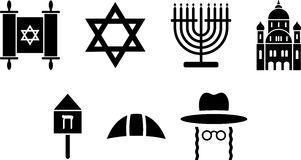Jewish icons. Some icons related with jewish religion Stock Photography