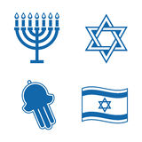 Jewish icons. Jewish icons isolated on white background Stock Images