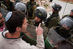 Jewish Israeli protests Israeli occupation Stock Images