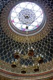 Jewish lustre in Spanish synagogue in Prague, Czech republic Stock Photos