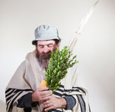 Jewish Male With Religious Items Stock Photo