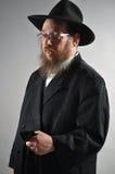Jewish man. This picture represents a senior Jewish man, wearing a black hat Stock Image