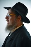 Jewish man. This picture represents a senior Jewish man, wearing a black hat Royalty Free Stock Images