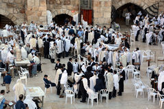 : Jewish man celebrate Simchat Torah Stock Photography