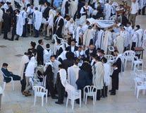 Jewish man celebrate Simchat Torah Stock Images