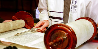 Jewish man dressed in ritual clothing Stock Photography