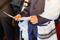 Jewish man dressed in ritual clothing Stock Photo