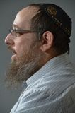 Jewish man portrait. This picture represents a side view of a Jewish man portrait Stock Images