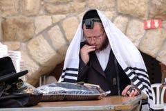 A jewish man praying Royalty Free Stock Photo
