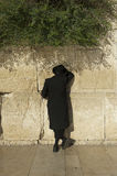 A jewish man is praying in Jerusalem Stock Image