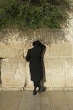 A jewish man is praying in Jerusalem Stock Image