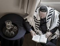 Jewish man praying Stock Photos