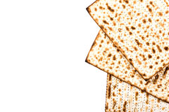 Jewish matza on Passover Stock Photo