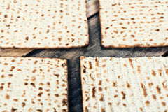 Jewish matza on Passover Royalty Free Stock Images