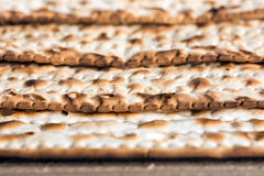 Jewish matza on Passover Stock Image